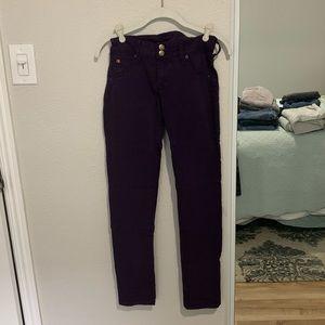 Hudson Dark Purple Skinny Ankle Jeans, Size 26